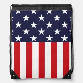 Stars and Stripes USA Flag Drawstring Backpack