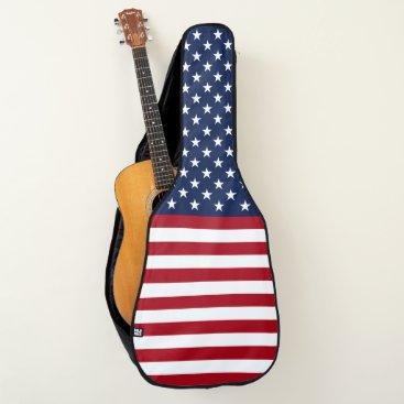 USA Themed Stars and Stripes USA Flag Guitar Case