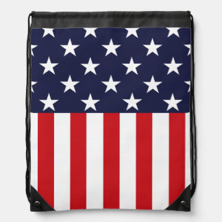 Stars and Stripes USA Flag Drawstring Backpack
