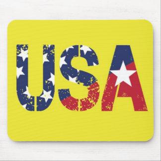 Stars and Stripes USA Logo yellow mousepad