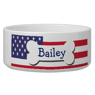 Stars And Stripes USA Personalized Bowl