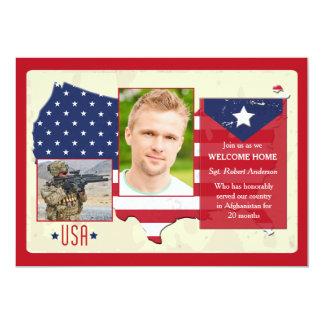 Stars and Stripes USA Photo Patriotic Invites
