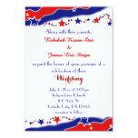 "Stars and Stripes Wedding 3.5"" X 5"" Invitation Card"