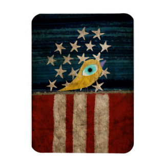 Stars and Stripes Yellow Bird Premium Magnet