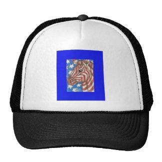 Stars and Stripes Zebra Trucker Hat