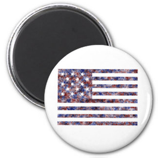 Stars and Strips Colored 2 Inch Round Magnet