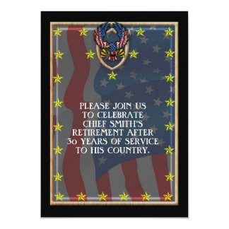 Stars and Strips military retirement Card