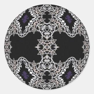 Stars and Swirls Round Sticker