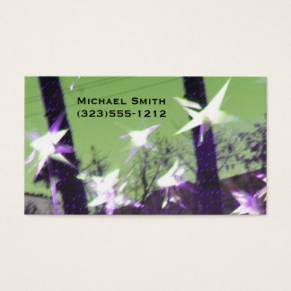 Stars and Trees Abstract Business Card