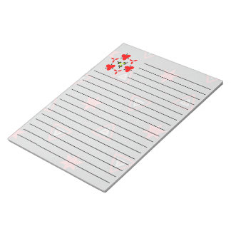 Stars and triangle modern pattern notepad