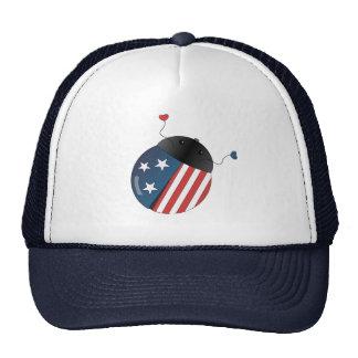 Stars ans Stripes Ladybug Mesh Hats