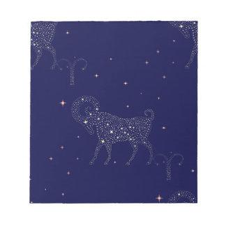 stars aries notepad