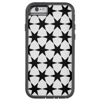 STARS (BLACK AND WHITE PATTERN) iPhone 6 Case