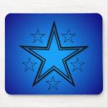 Stars Black Blue Mouse Pad