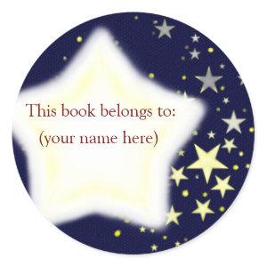 Stars, blue and yellow sticker
