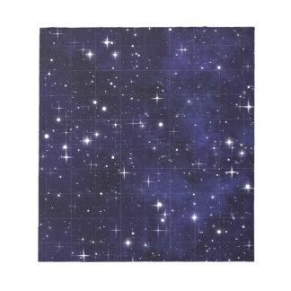 Stars blue sky wallpaper design notepad