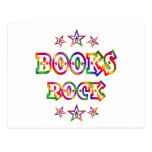 Stars Books Rock Postcard