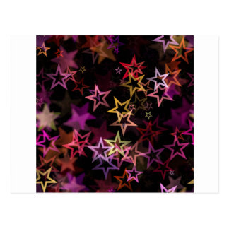Stars Bright Night Design Postcard