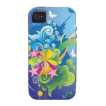 Stars & Butterflies iPhone 4 TOUGH Case Vibe iPhone 4 Cover