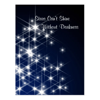 Stars Can't Shine Without Darkness – Encouragement Postcard