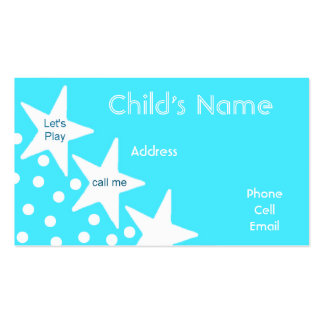 Stars Children's Calling Card Double-Sided Standard Business Cards (Pack Of 100)