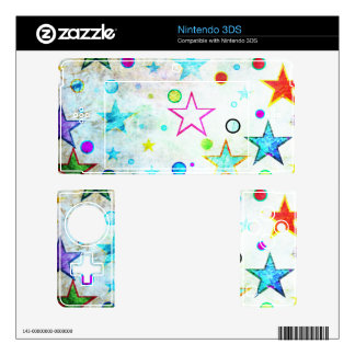 Stars & Circles Fab Pattern Decal For 3DS