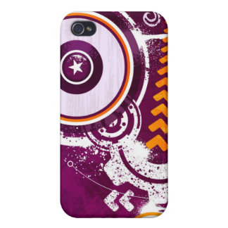 Stars & Circles Illustration iPhone 4/4S Cover