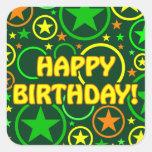 "STARS & CIRCLES stickers - ""Happy Birthday!"""