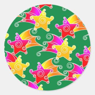 stars classic round sticker