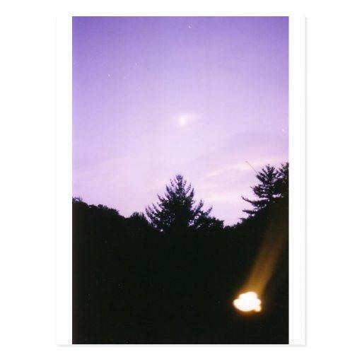 Stars comet firefly postcard