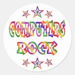 Stars Computers Rock Classic Round Sticker