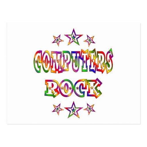 Stars Computers Rock Postcard