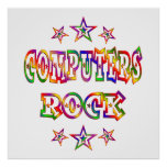 Stars Computers Rock Poster