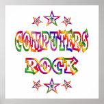 Stars Computers Rock Print