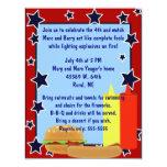 """Stars Cookout Invitation 4.25"""" X 5.5"""" Invitation Card"""