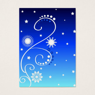 Stars design - Gift tag card