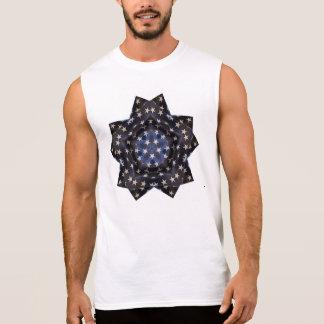 Stars design sleeveless shirt