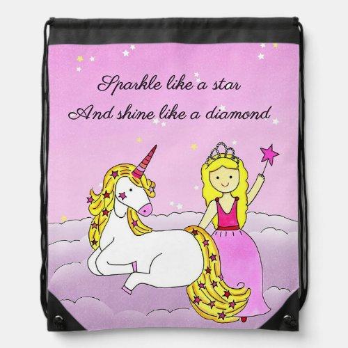 Stars & Diamonds Drawstring Backpack