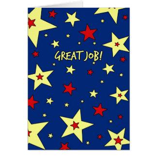 Stars Employee Appreciation Great Job Card