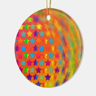 Stars Exploded Ceramic Ornament