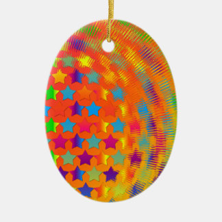 Stars Exploded OVAL ORNAMENT