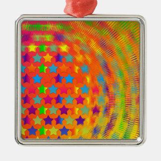 Stars Exploded Square Ornament