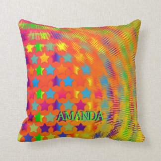 Stars Exploded- Square Throw Pillow