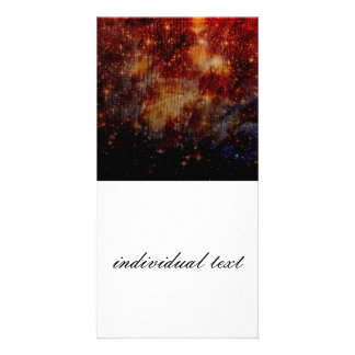 stars falling down, abstract photo card template