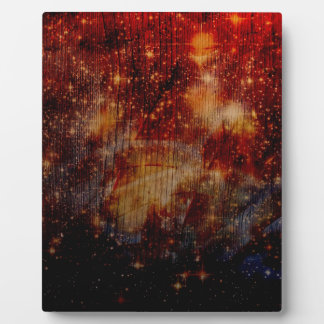 stars falling down, abstract photo plaques