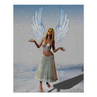 Stars Falling on an Angel (Poster)