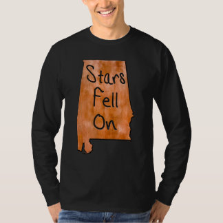 Stars Fell On Alabama State Map Art T-Shirt