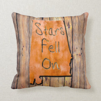 Stars Fell On Alabama State Map Art Throw Pillow