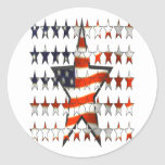 stars.flags pegatina redonda