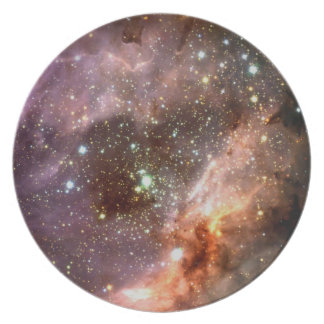 Stars forming party plates